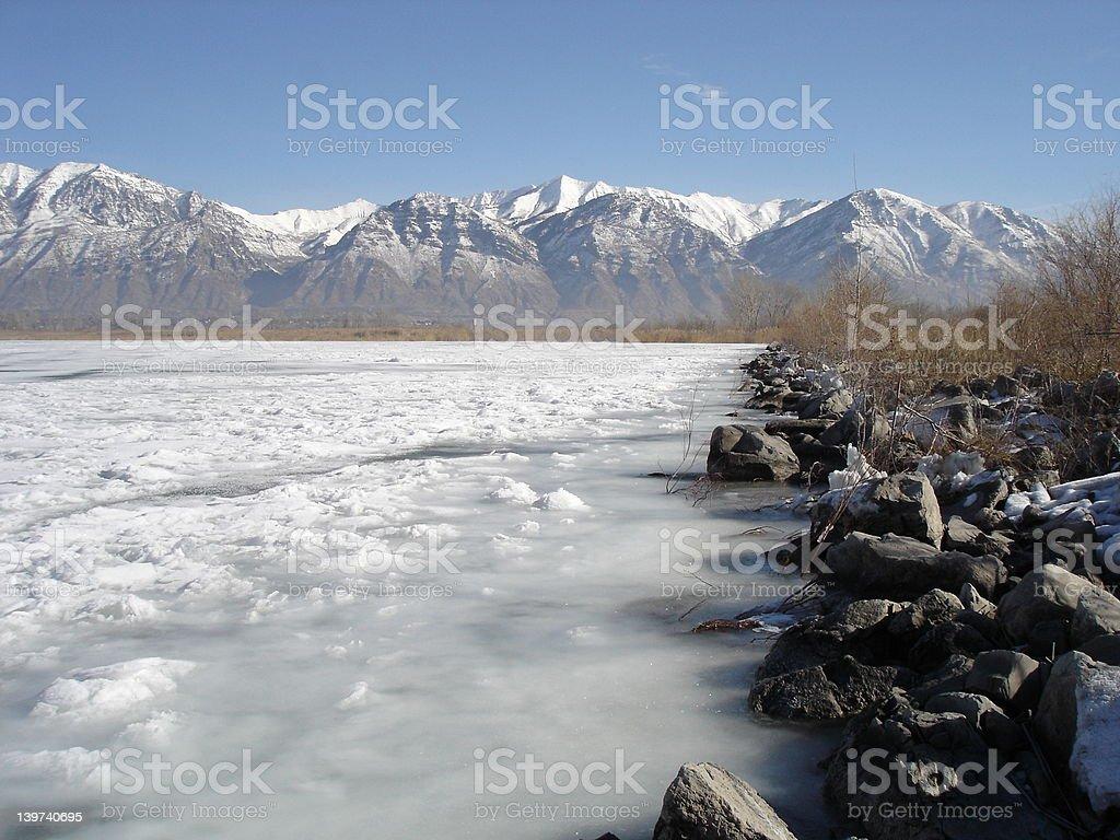 Solid Lake stock photo