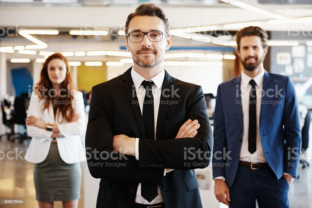Solid leadership makes all the difference stock photo