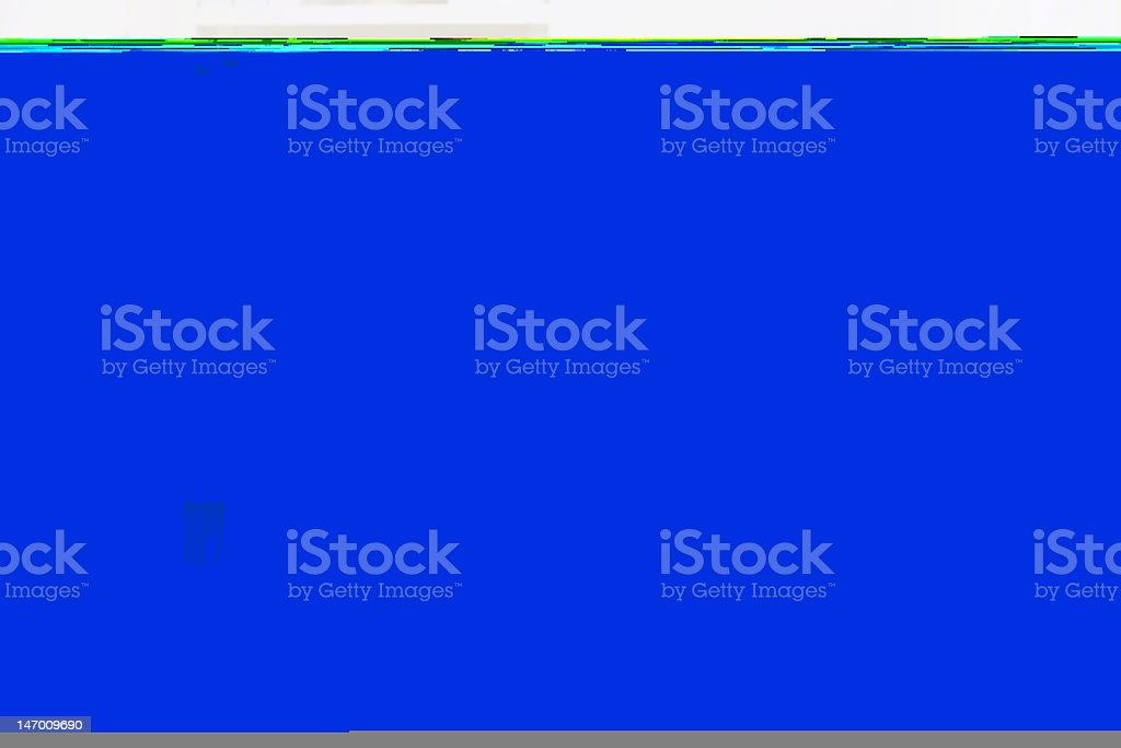 Solid royal blue background with a thin teal line on top royalty-free stock photo