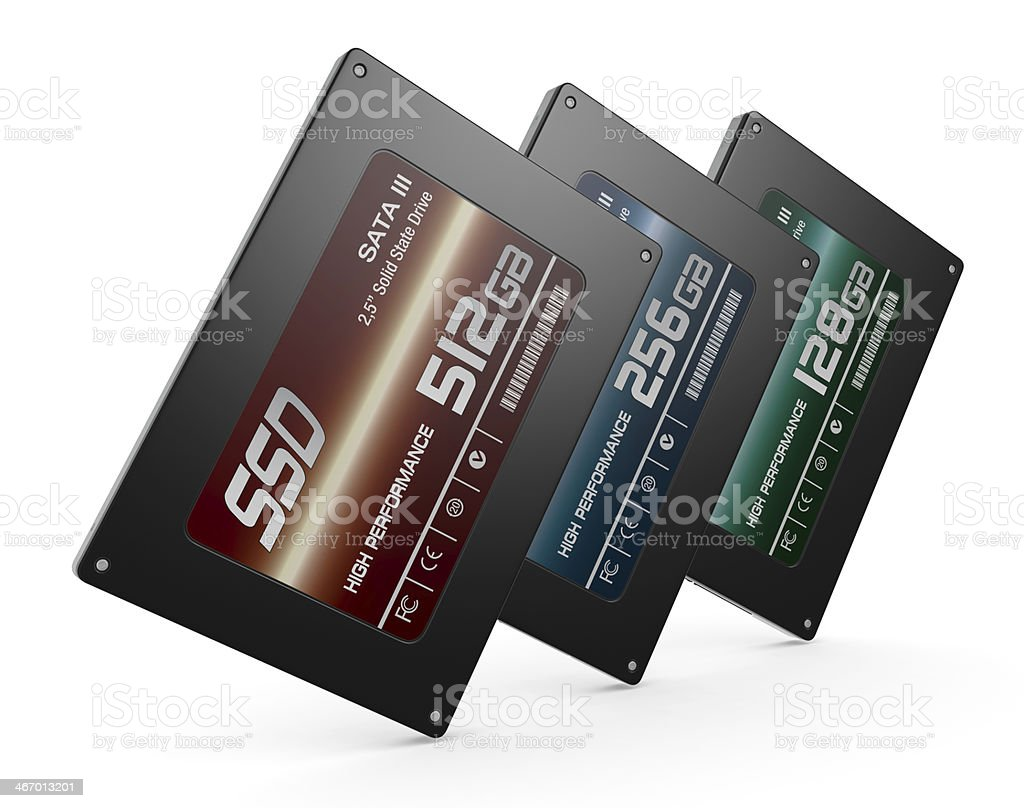 solid state drives stock photo