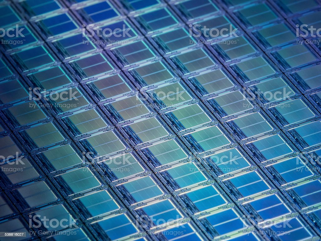 Solid State Memory Chips Macro stock photo