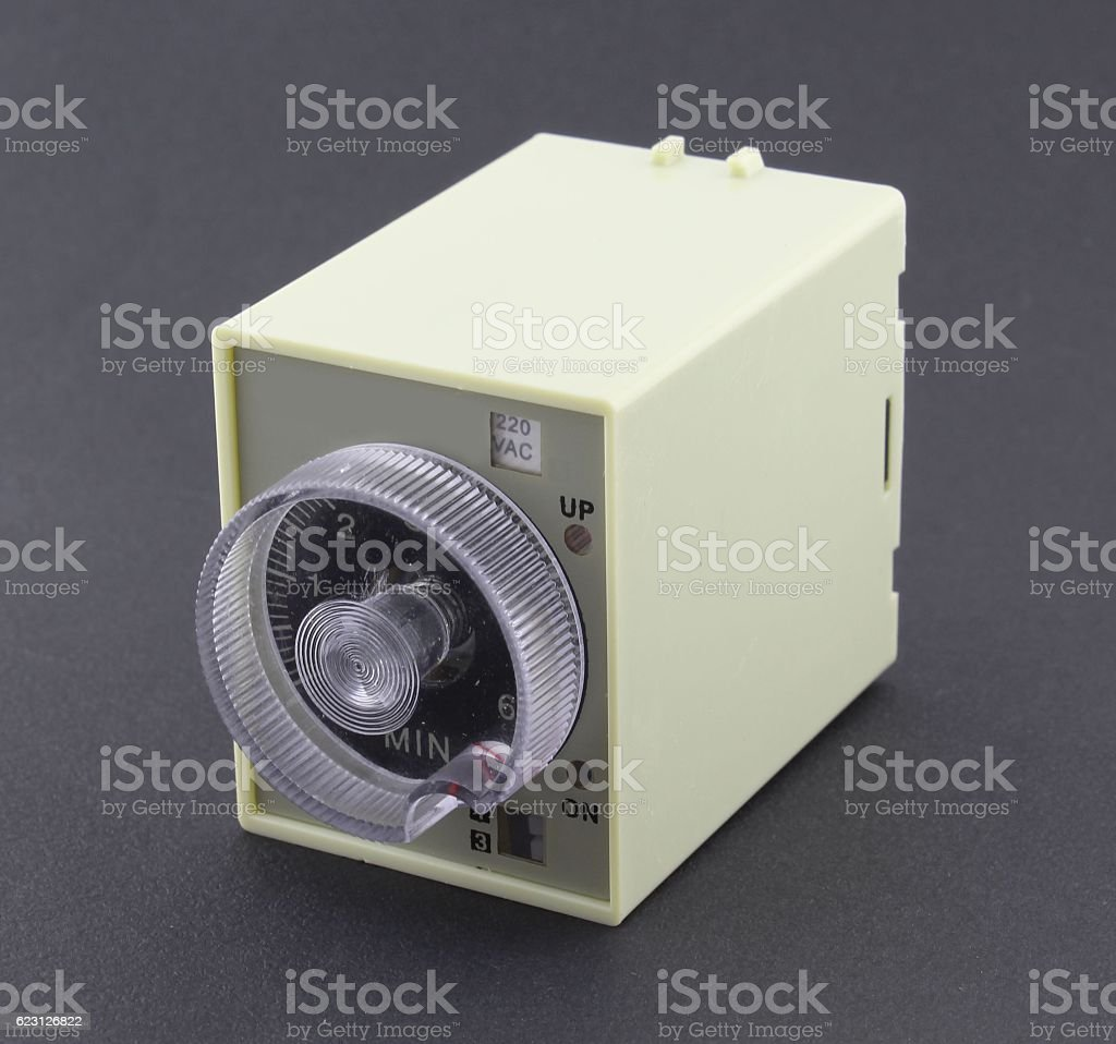 Solid State Timer, black background stock photo
