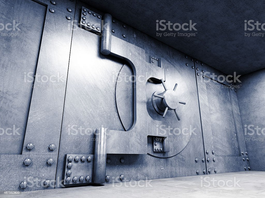 solid vault stock photo