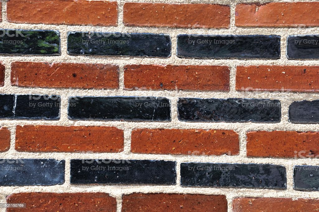 Solid wall made of brick stock photo