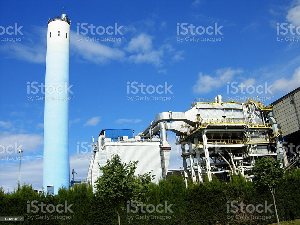 Solid waste incineration plant (SWIP) royalty-free stock photo