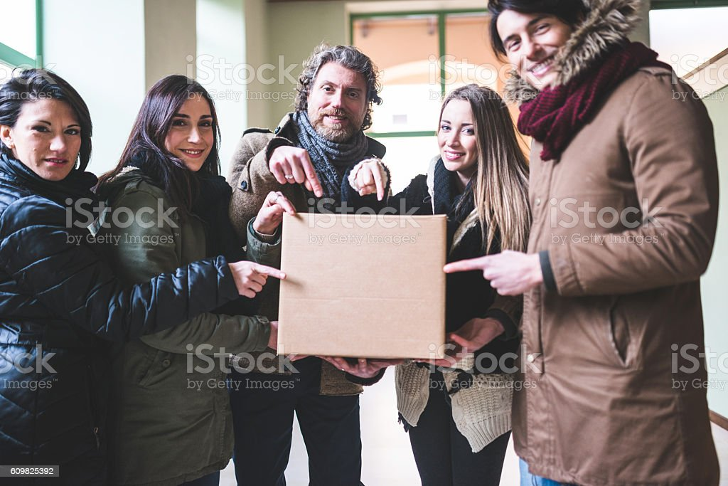 Solidarity to move the office stock photo