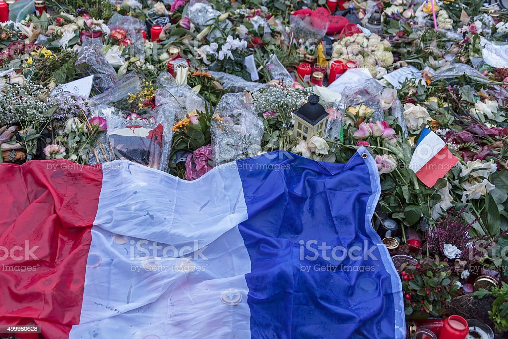 Solidarity with France stock photo