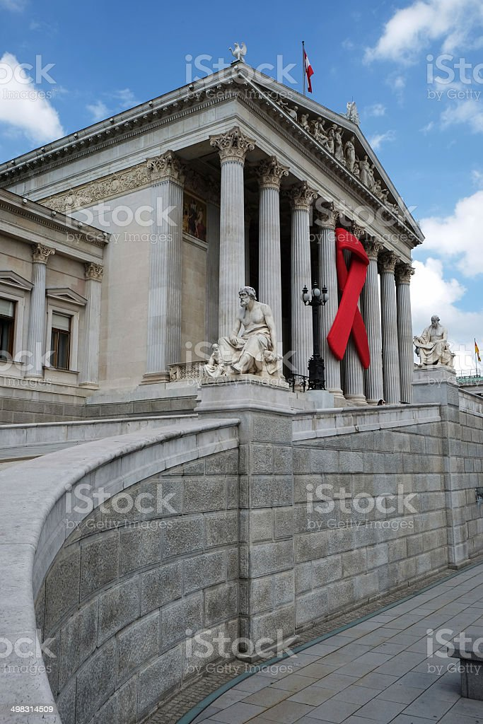 Solidarity with HIV/AIDS stock photo