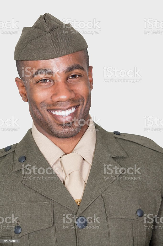 Solider portrait stock photo