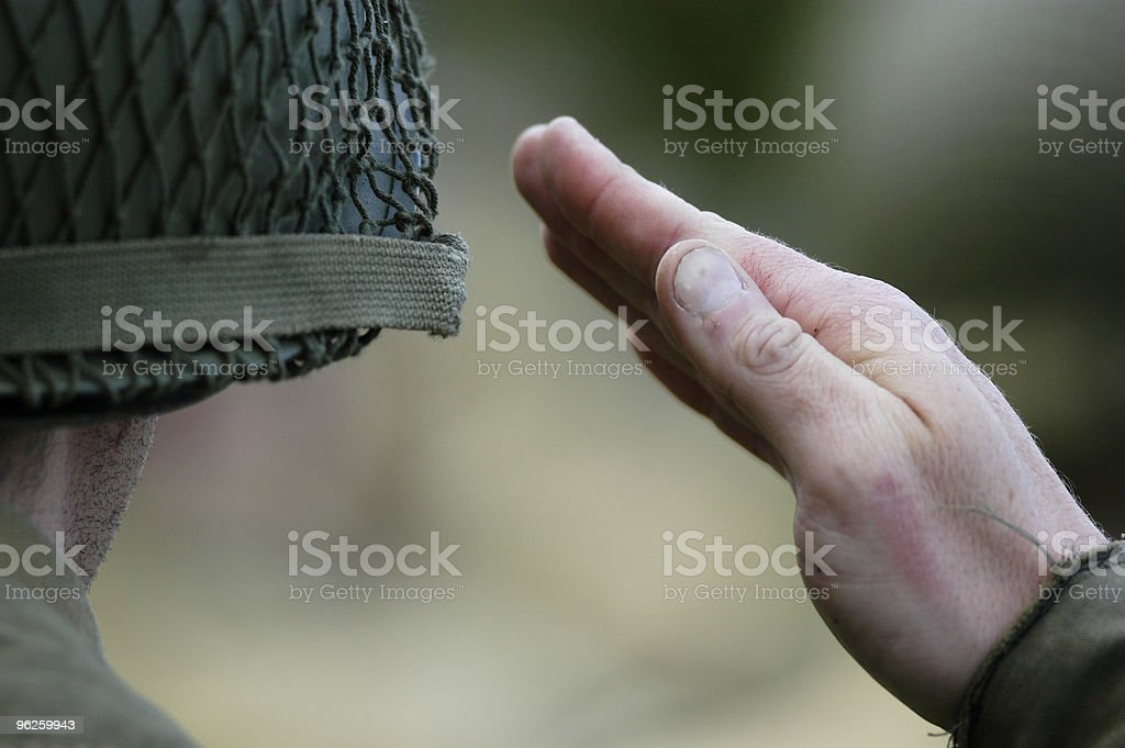 Soliders Salute royalty-free stock photo