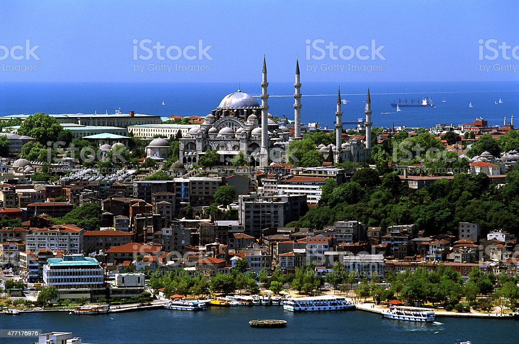 Soliman the great's S?leymaniye Mosque stock photo