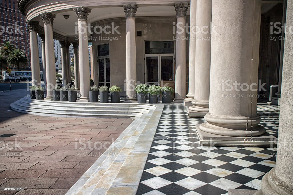 Solis Theater Columns Montevideo Uruguay stock photo