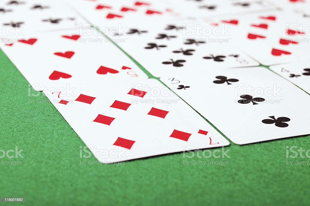 Solitaire closeup stock photo