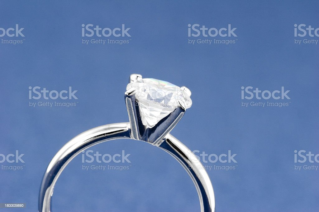 Solitaire Diamond Ring royalty-free stock photo