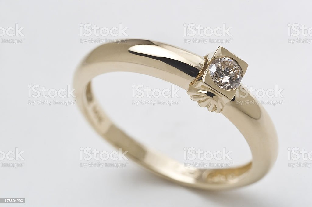 Solitaire Ring royalty-free stock photo