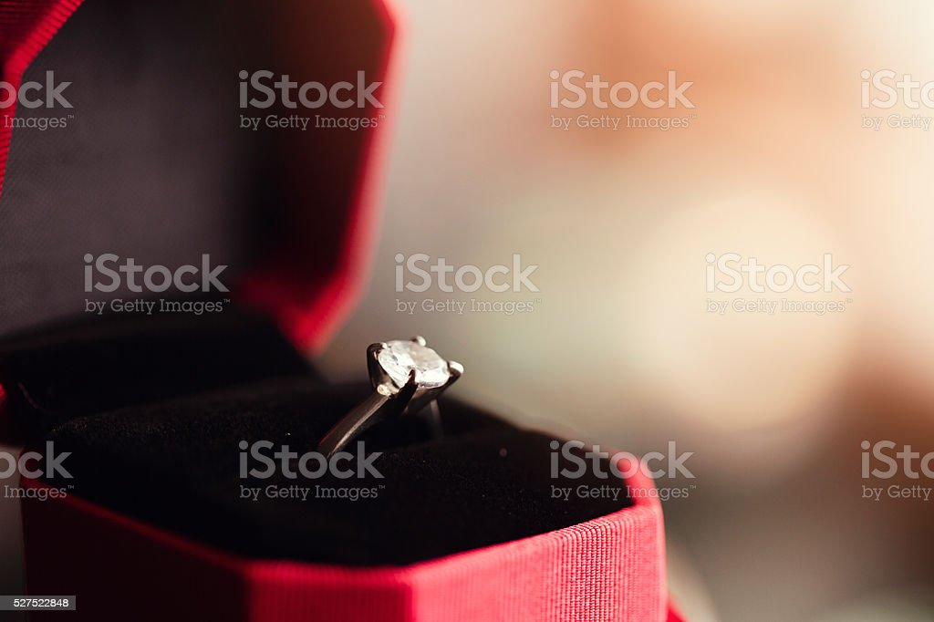 solitaire ring stock photo