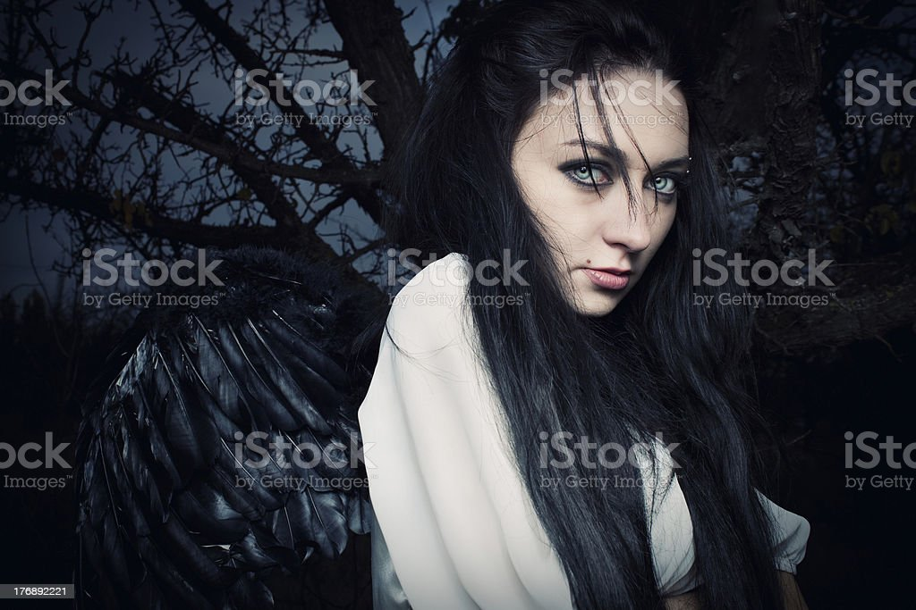 Solitary angel royalty-free stock photo