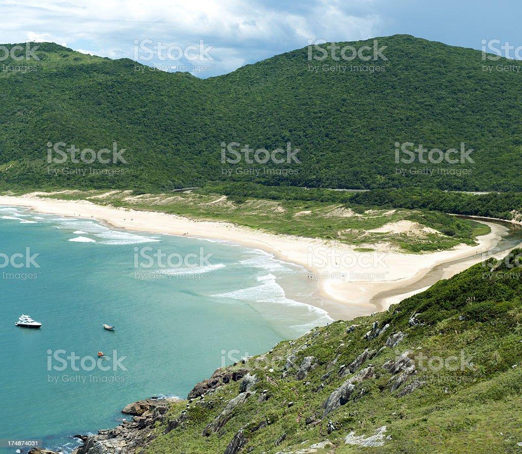 Solitary beach along the endless coast of Brazil. stock photo