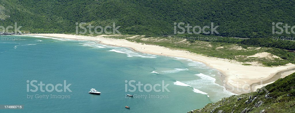 Solitary beach along the endless coast of Brazil. royalty-free stock photo