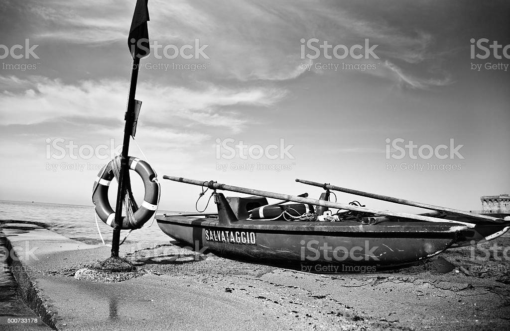 Solitary beach stock photo