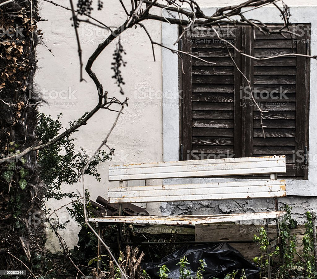 Solitary Bench royalty-free stock photo