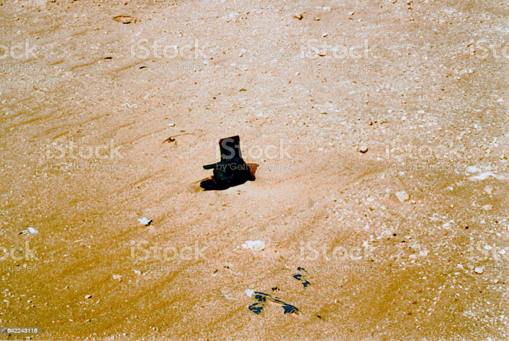 Solitary Boot without the Owner stock photo
