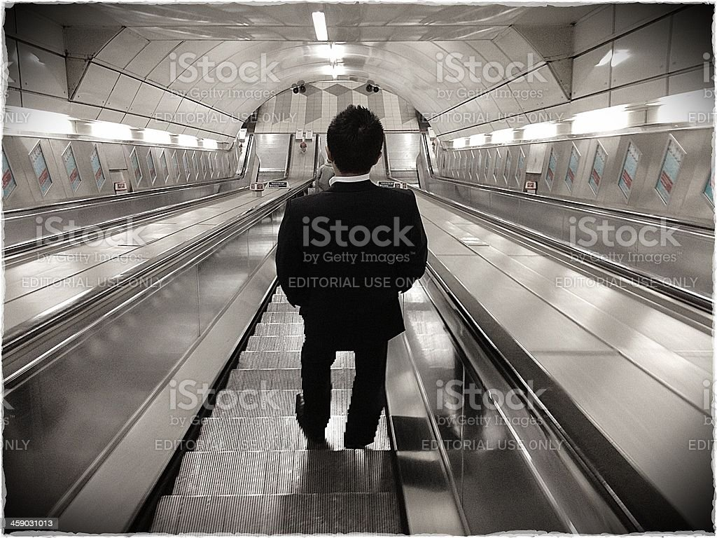 Solitary London business commuter royalty-free stock photo