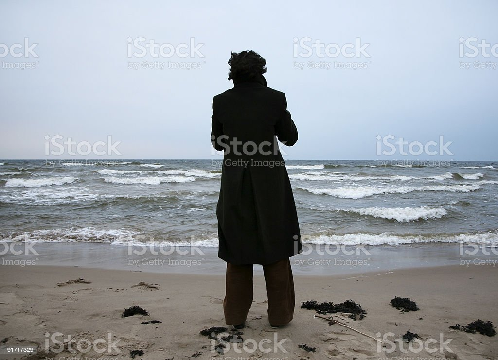 solitary men royalty-free stock photo