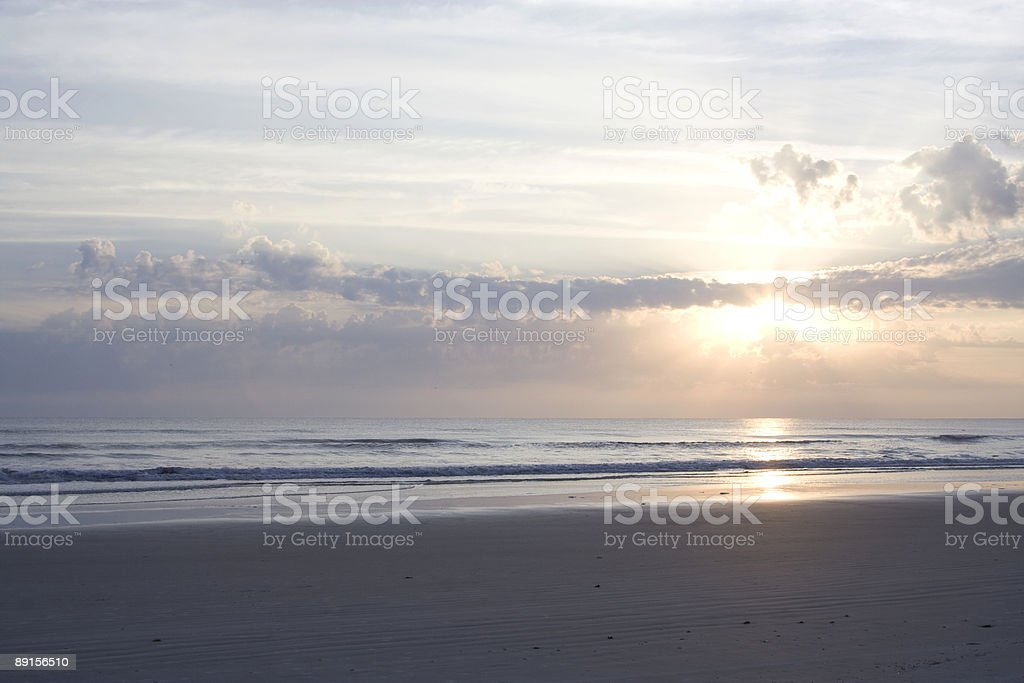 Solitary Sunrise royalty-free stock photo