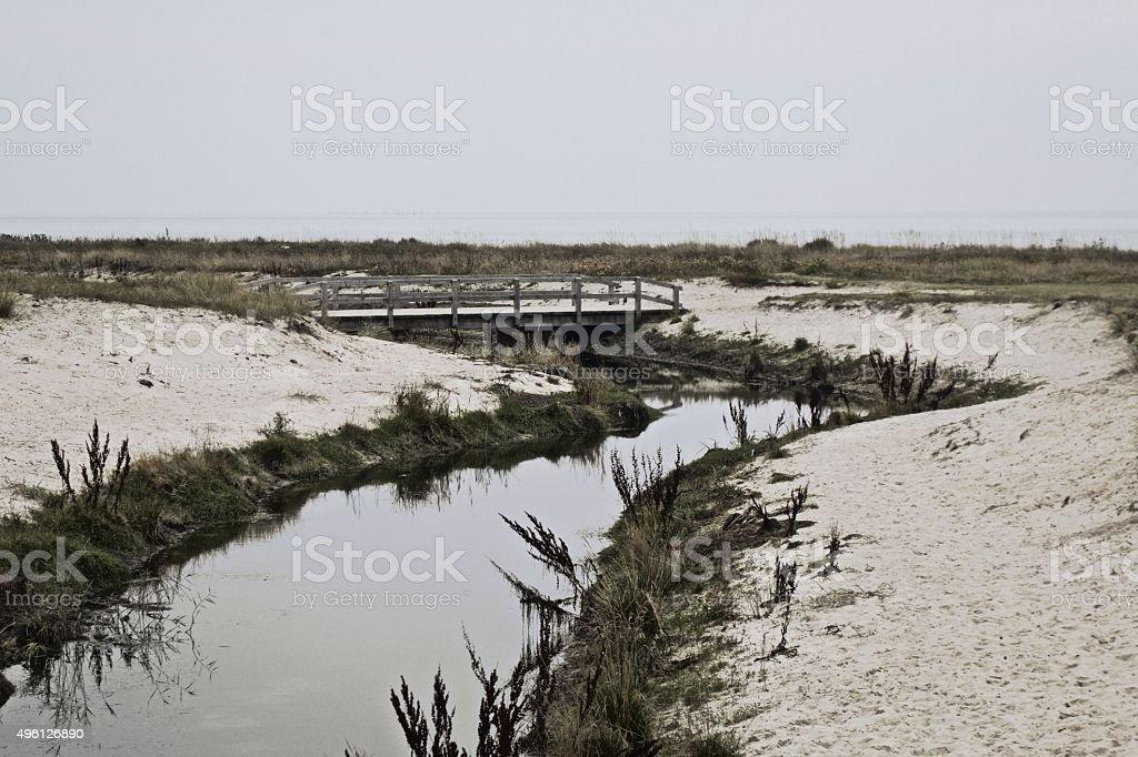 Solitude beach stock photo