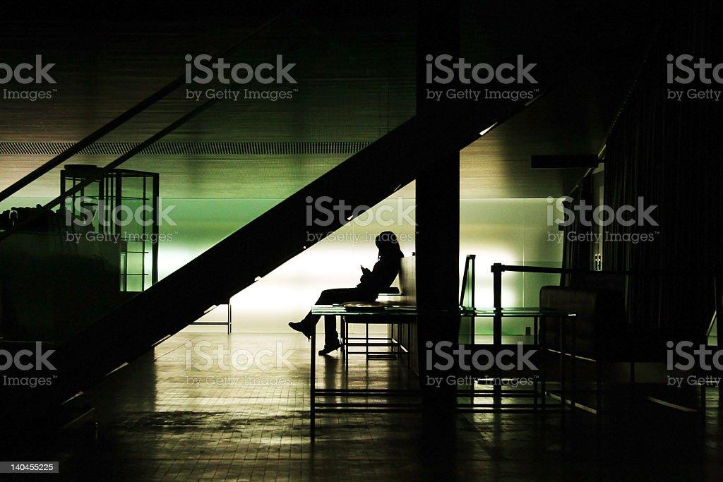 Solitude in a bar stock photo