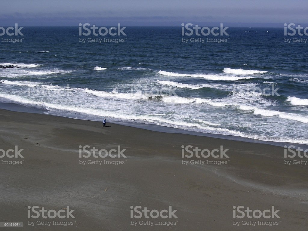 Solitude in Sand stock photo