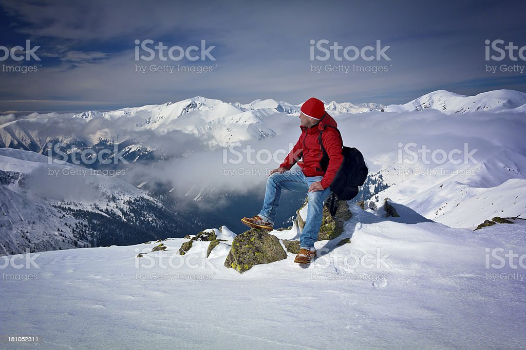Solitude in the mountains royalty-free stock photo