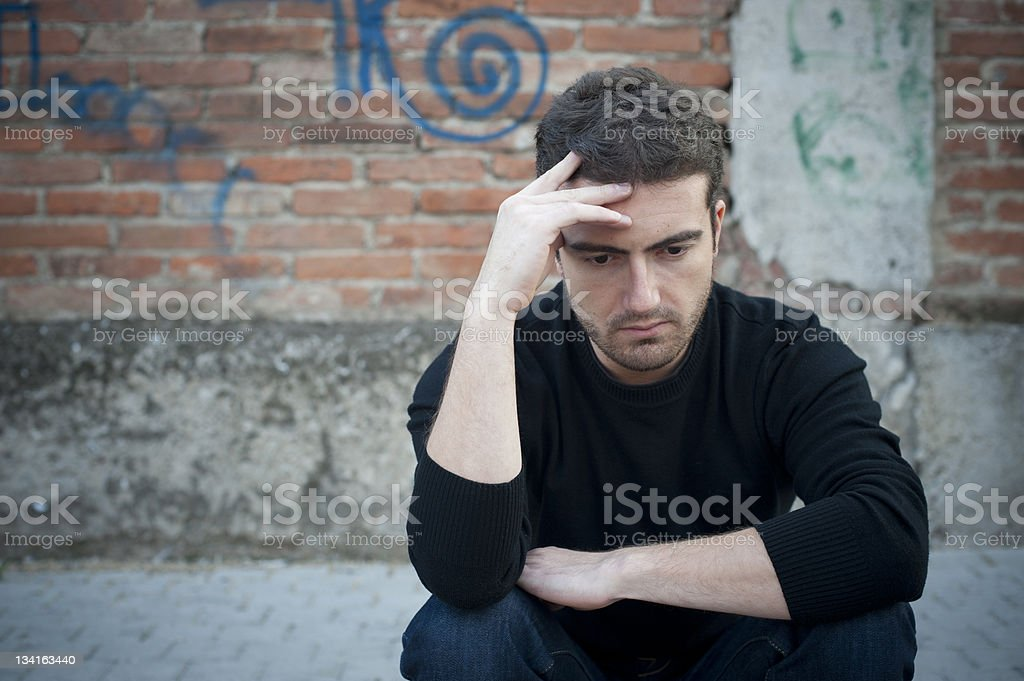 Solitude man stock photo