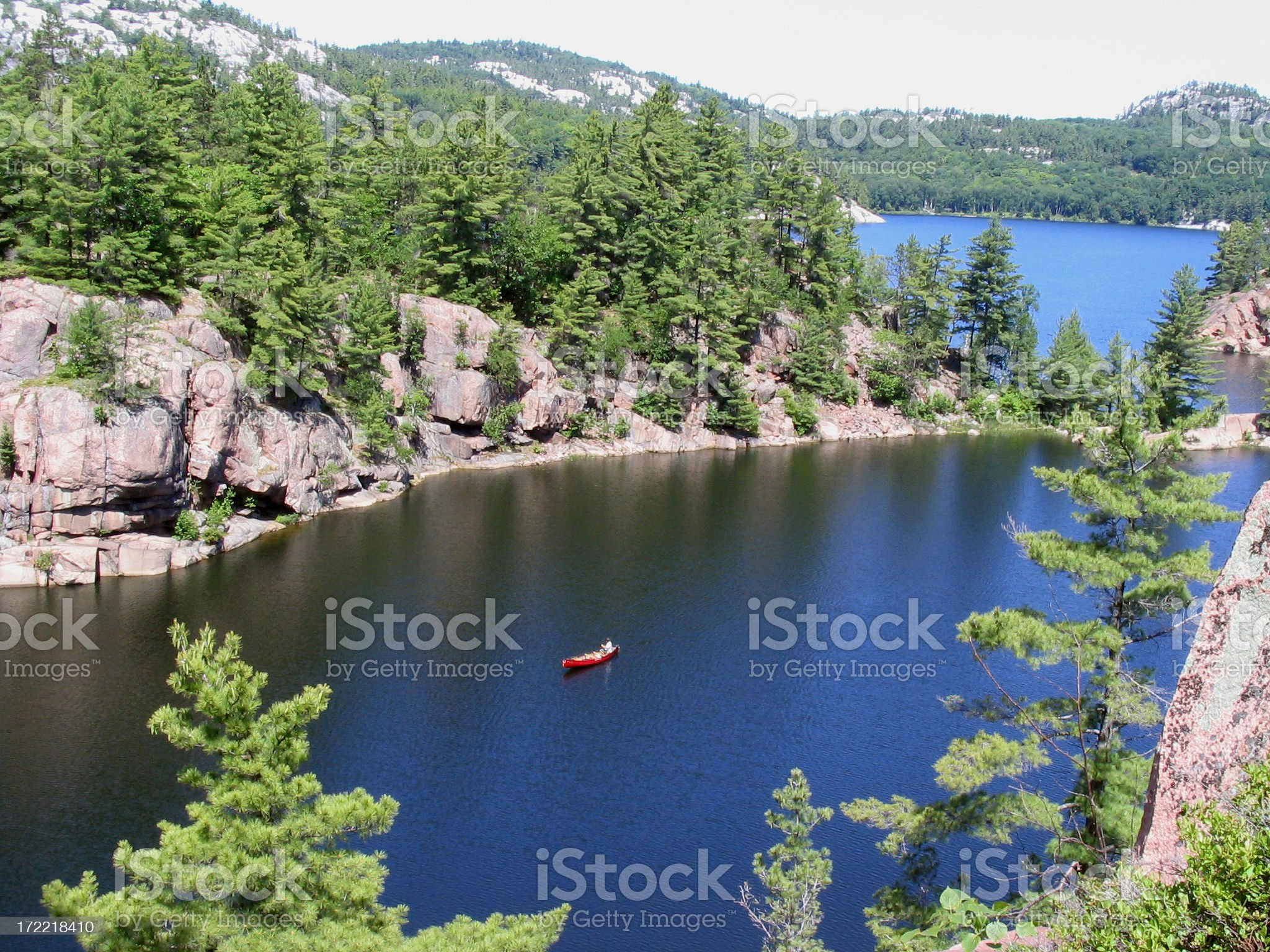 solitude on the lake royalty-free stock photo
