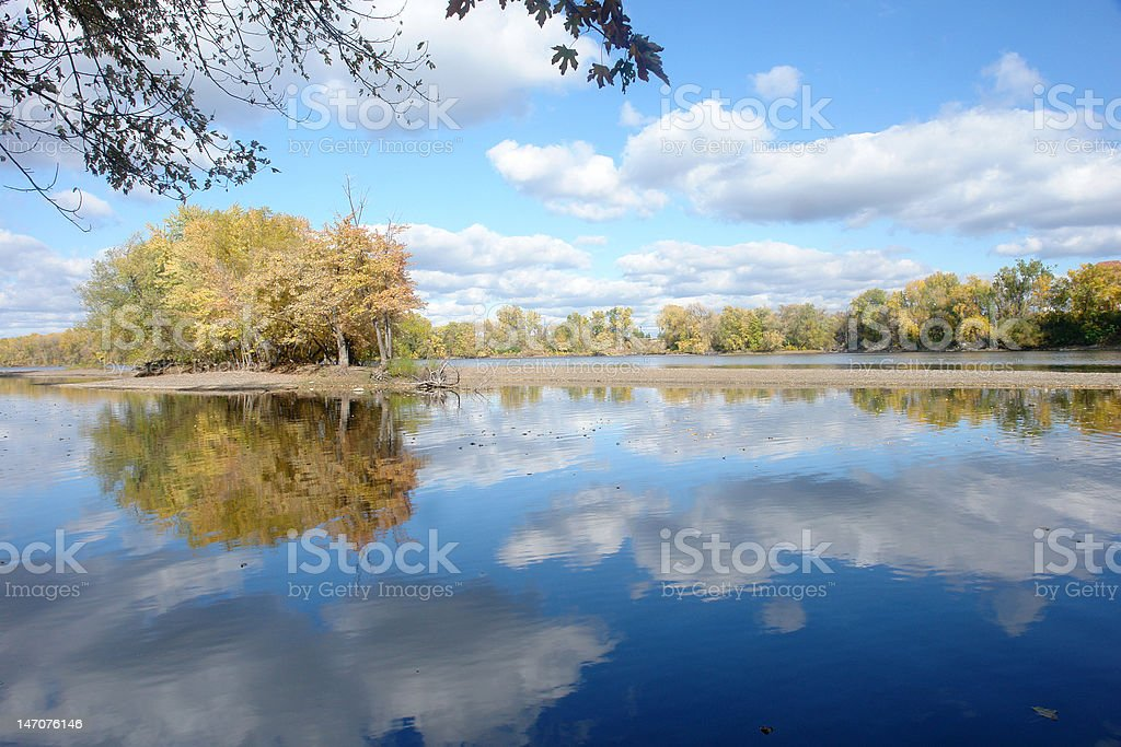 Solitude on the Mississippi royalty-free stock photo