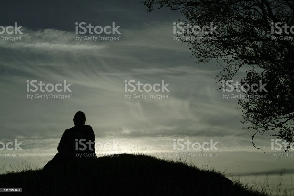 Solitude royalty-free stock photo