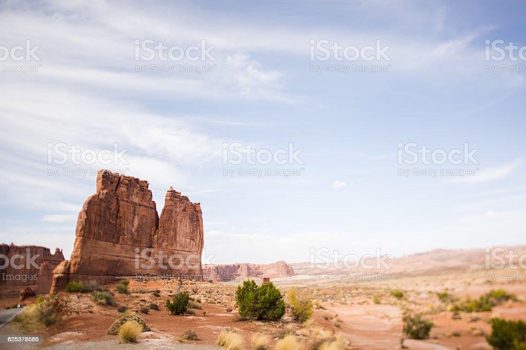 Solitude Rock Feature Arches National Park Utah stock photo
