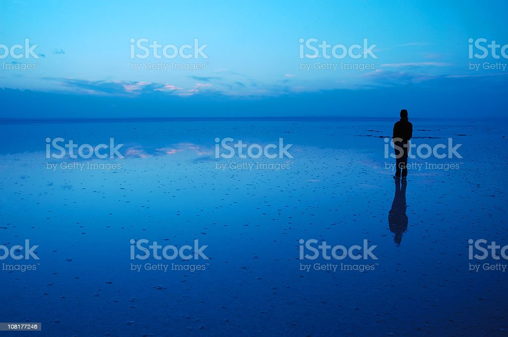 Solitude & Set of the Day royalty-free stock photo