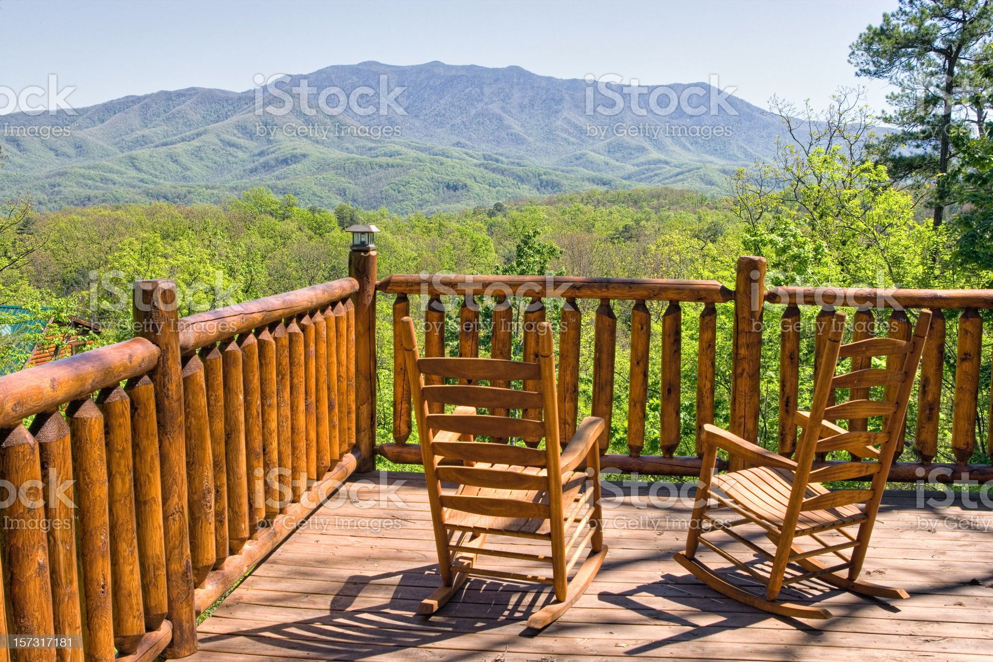 Solitude with a mountain view royalty-free stock photo