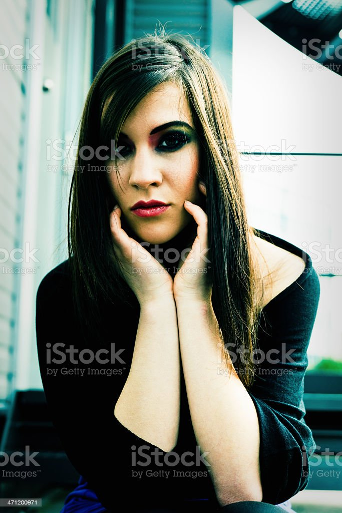 Solitude Young Woman Portrait royalty-free stock photo