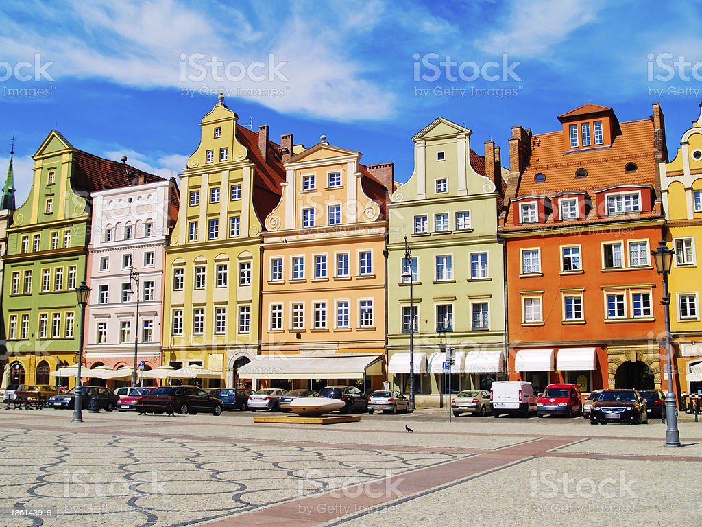 Solny square, Wroclaw, Poland stock photo