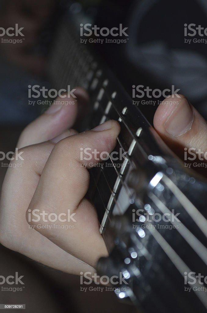 Solo de guitarra stock photo