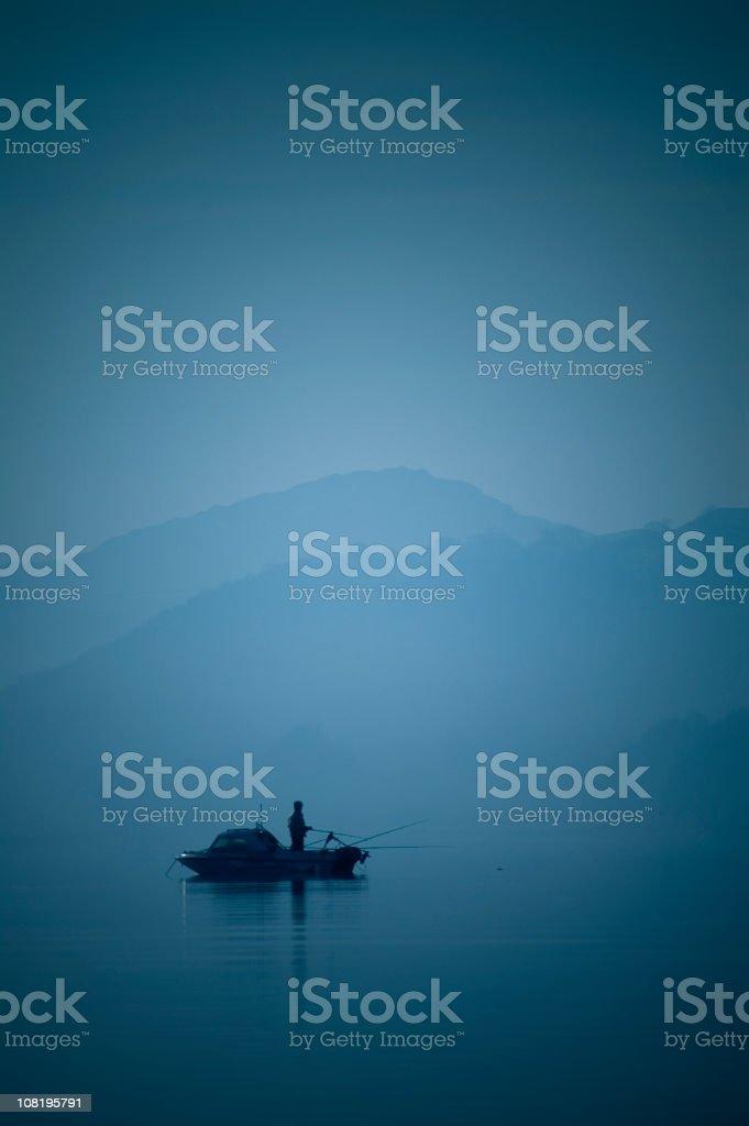 Solo Fishing royalty-free stock photo