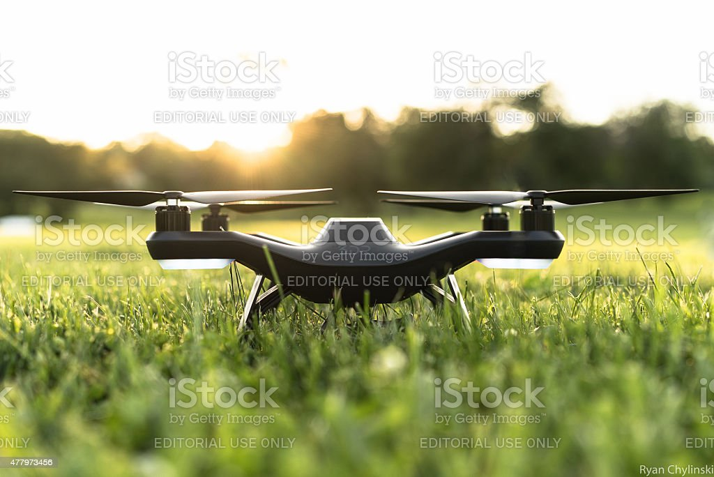 3DR Solo Quadcopter Drone stock photo