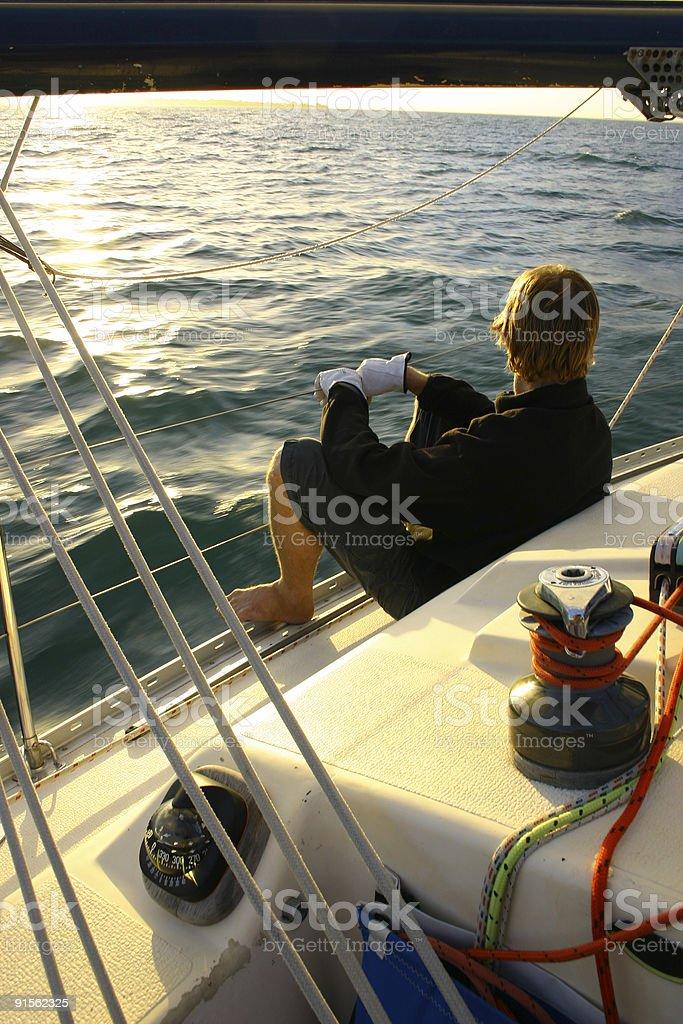Solo Sailer 2 stock photo