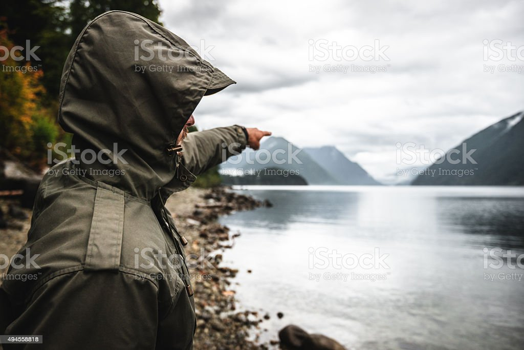 solo traveler discovery new places stock photo