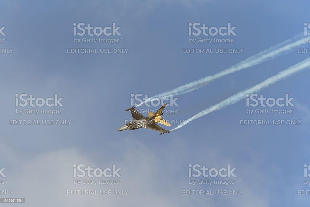 Solo Turk (Turkey) F-16 at ILA  2014 stock photo