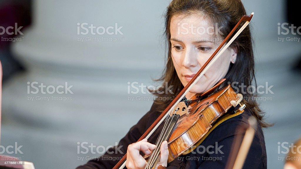 Solo violinist stock photo