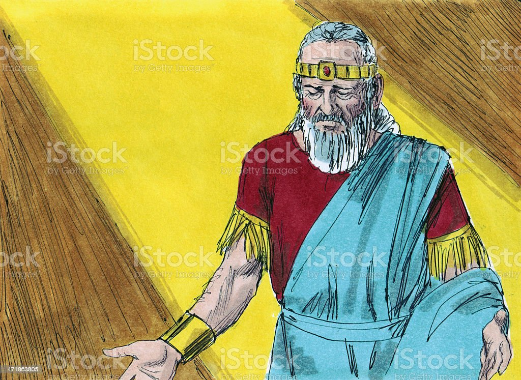 Solomon Angered God stock photo
